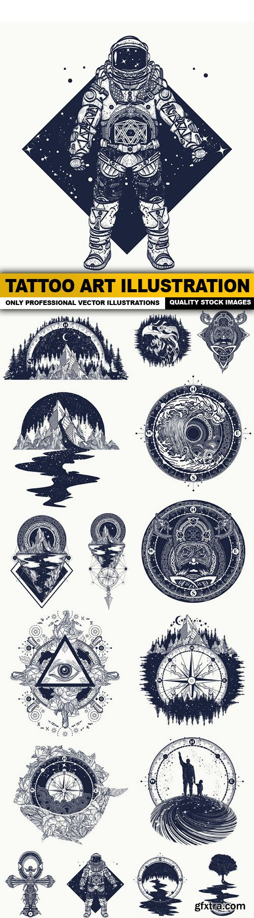 Tattoo Art Illustration - 16 Vector