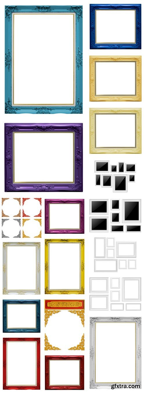 Colored frame isolated on white background 18X JPEG