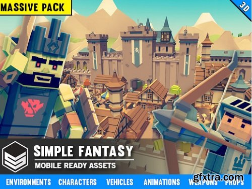 Unity Asset – Simple Fantasy – Cartoon Assets