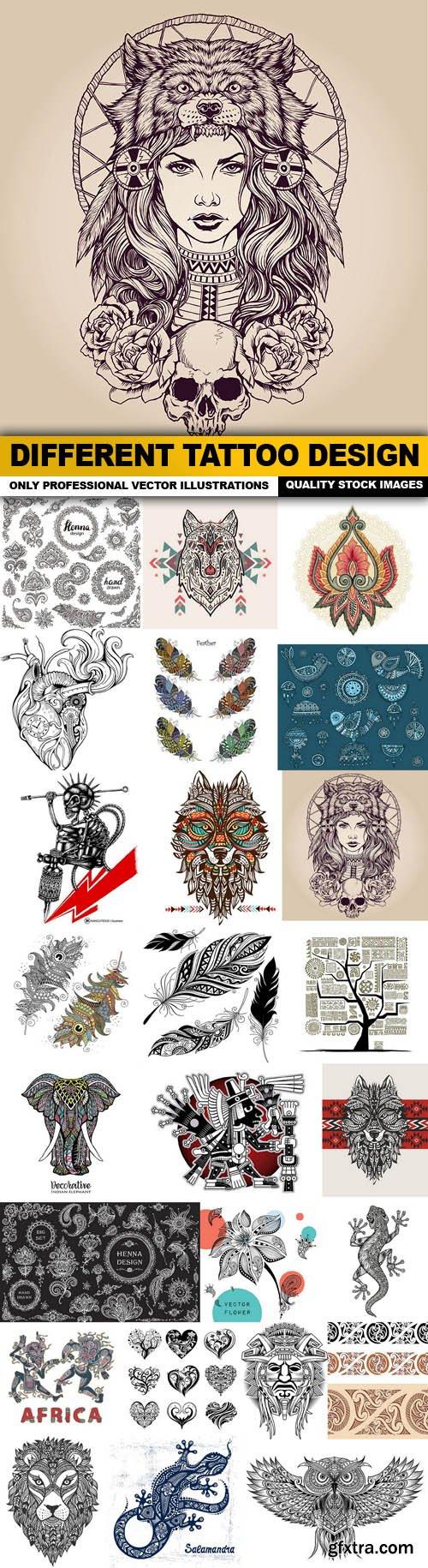 Different Tattoo Design - 25 Vector