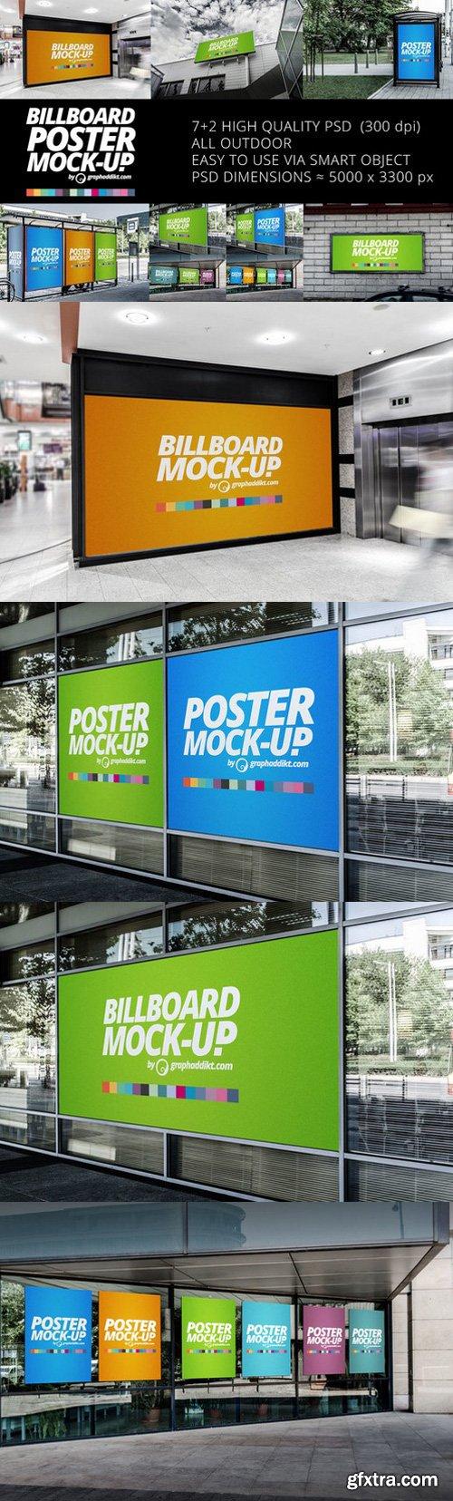 CM - 7+2 Billboard & Poster mockups 547372