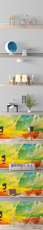 CM - Wall Art Mockups BUNDLE V1 1052095
