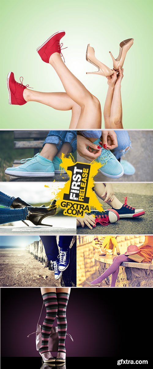 Stock Image Legs with trendy shoes