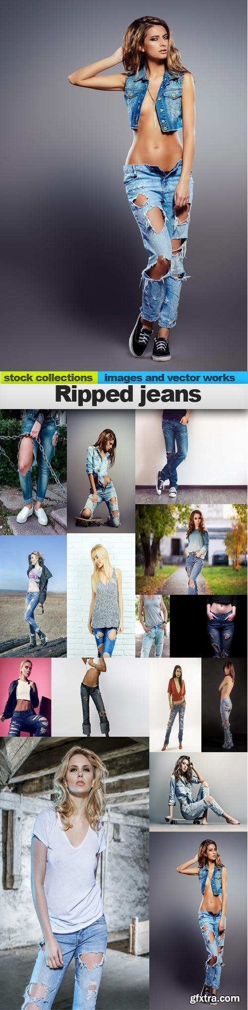 Ripped jeans, 15 x UHQ JPEG