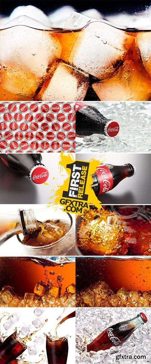 Stock Image Fresh cola drink background