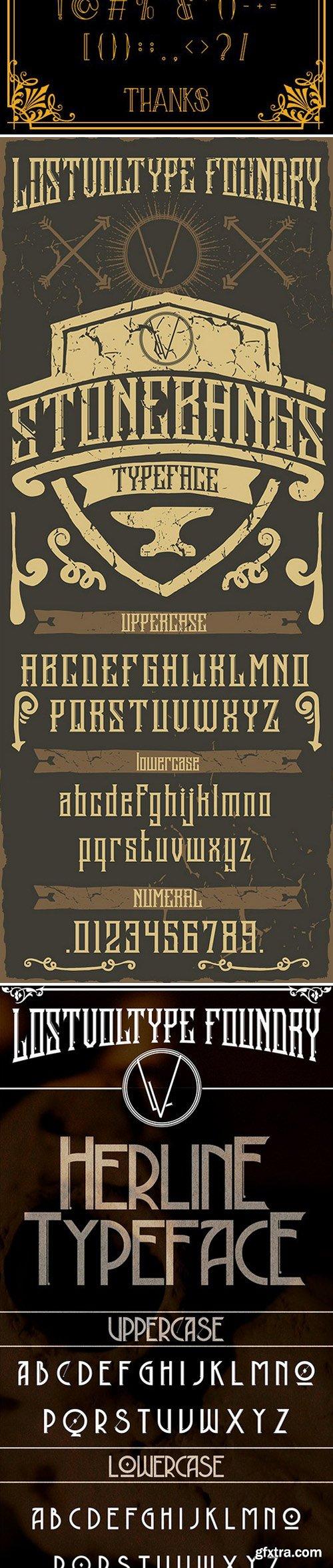 CM - Authentic Vintage Fonts Bundle 368567
