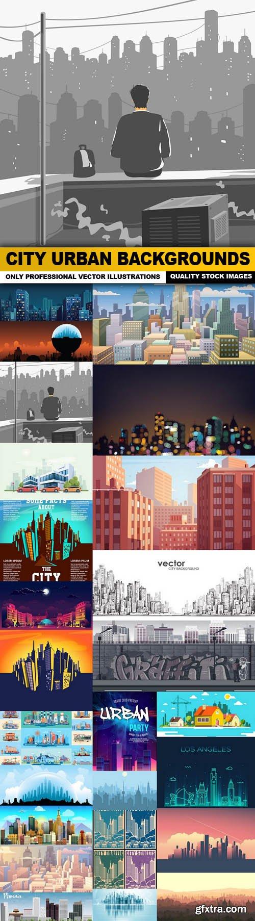 City Urban Backgrounds - 25 Vector