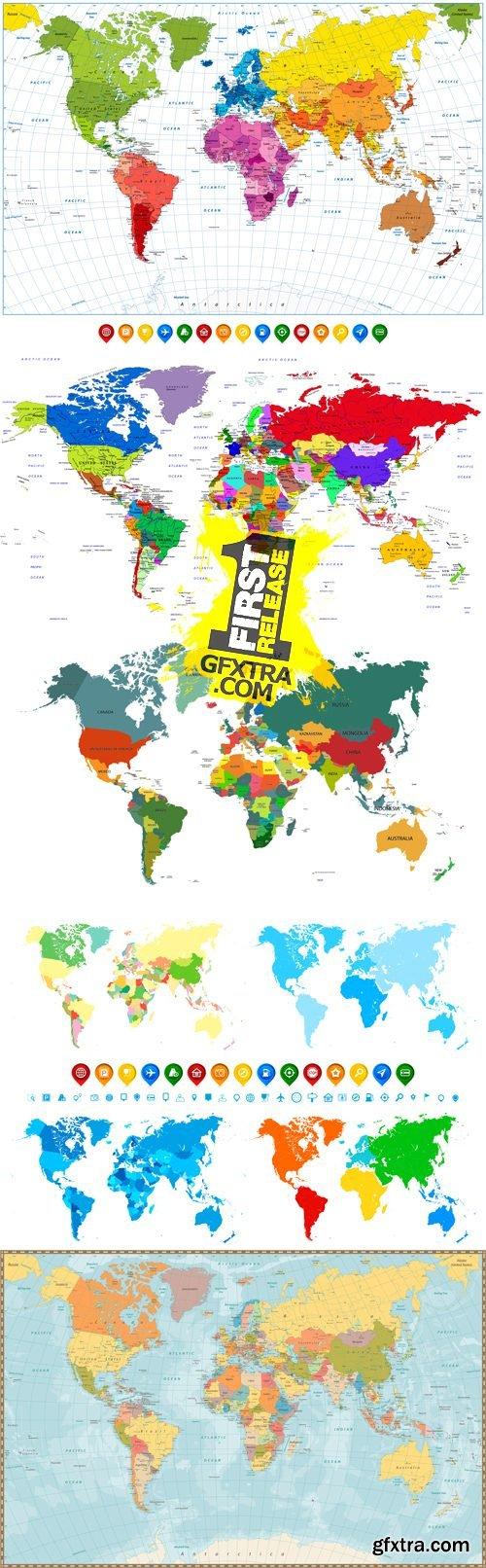 World Maps Vector 4