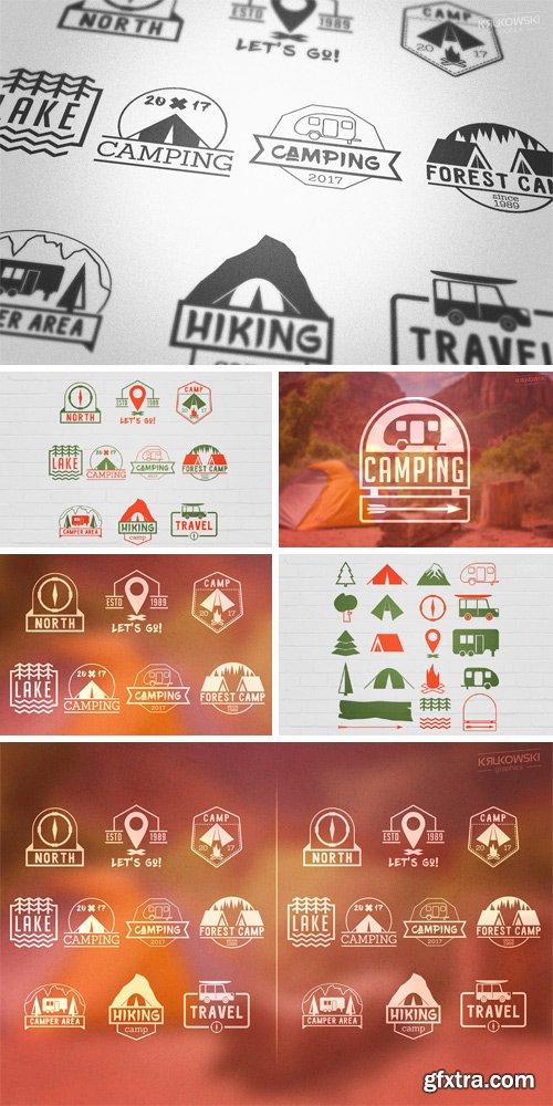 CM 1150059 - Camping Outdoor Badges Logos
