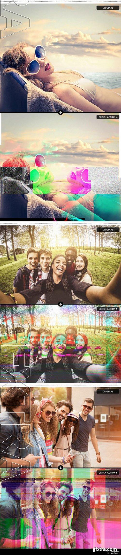 Graphicriver - Glitch Art Photoshop Actions 11455182