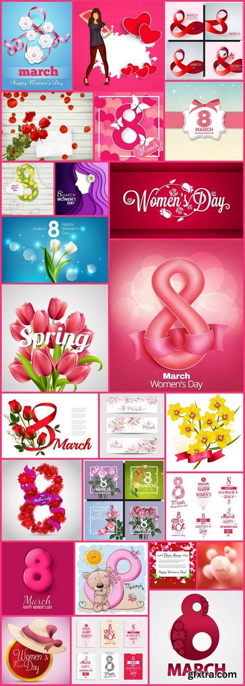 8 March International Womens Day - 25 Vector