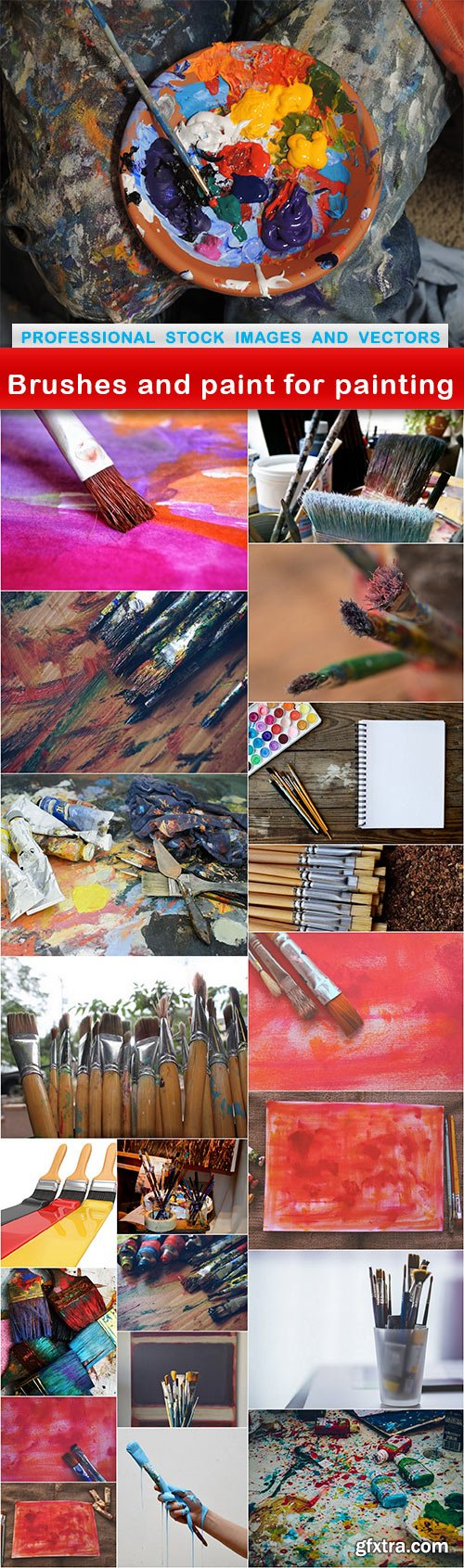 Brushes and paint for painting - 21 UHQ JPEG