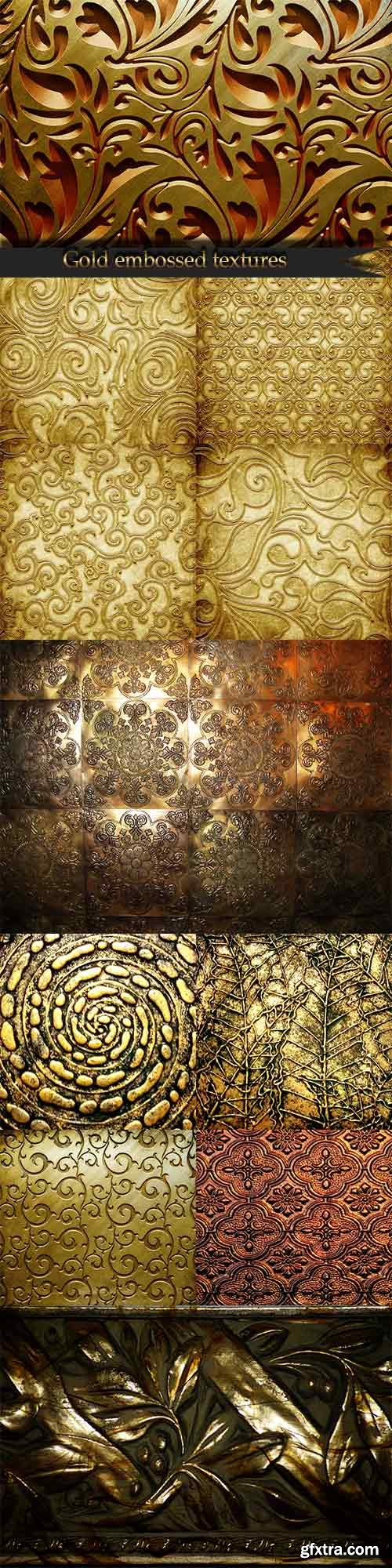 Stunning gold embossed textures