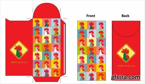 Collection of box to cut a figure of gift box cardboard container 3-25 EPS