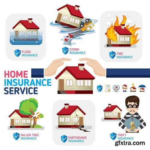 House Home Design Elements - 25 Vector » Vector, Photoshop PSDAfter ...