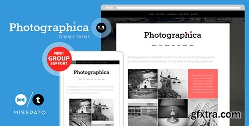 ThemeForest - Photographica v1.3 - Portfolio Tumblr Theme - 4565522