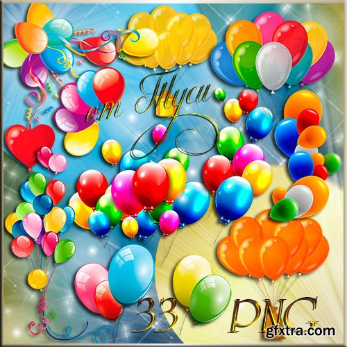 Balloons on a transparent background