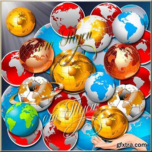 Clip Art - World globe