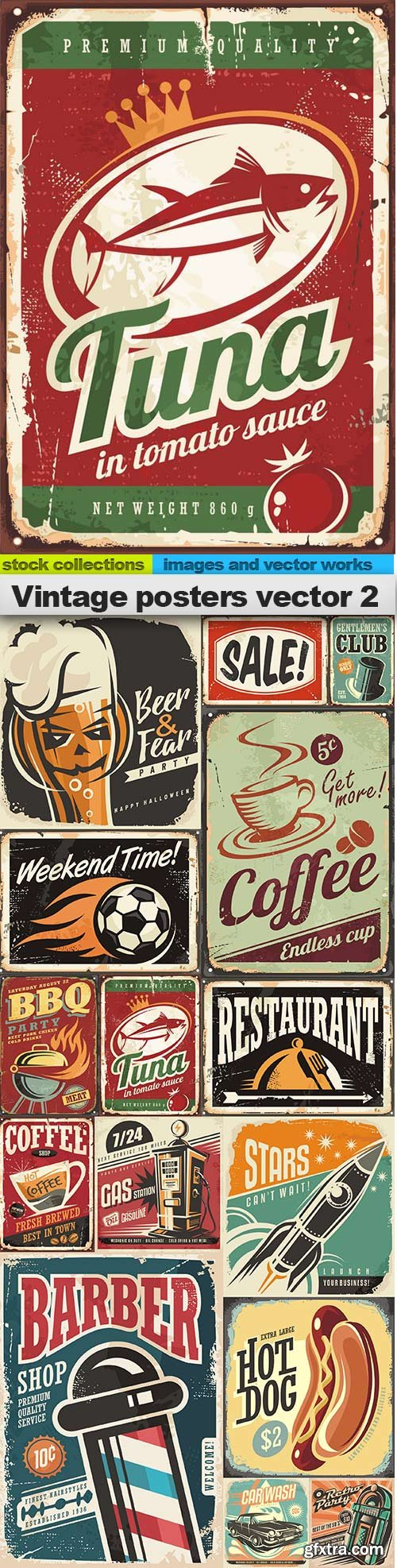Vintage posters vector 2, 15 x EPS