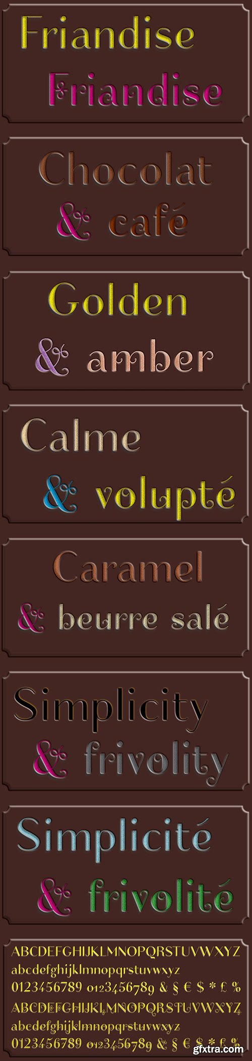 Friandise for Chocolate Enthusiasts Fonts 2xTTF
