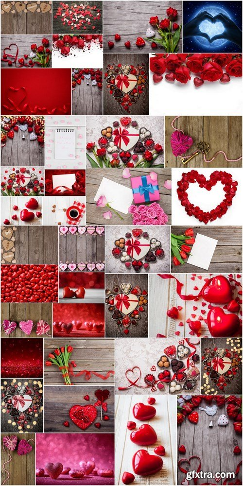 Love, Romance, Heart, Gifts - Valentines Day part 3 - Set of 40xUHQ JPEG Professional Stock Images