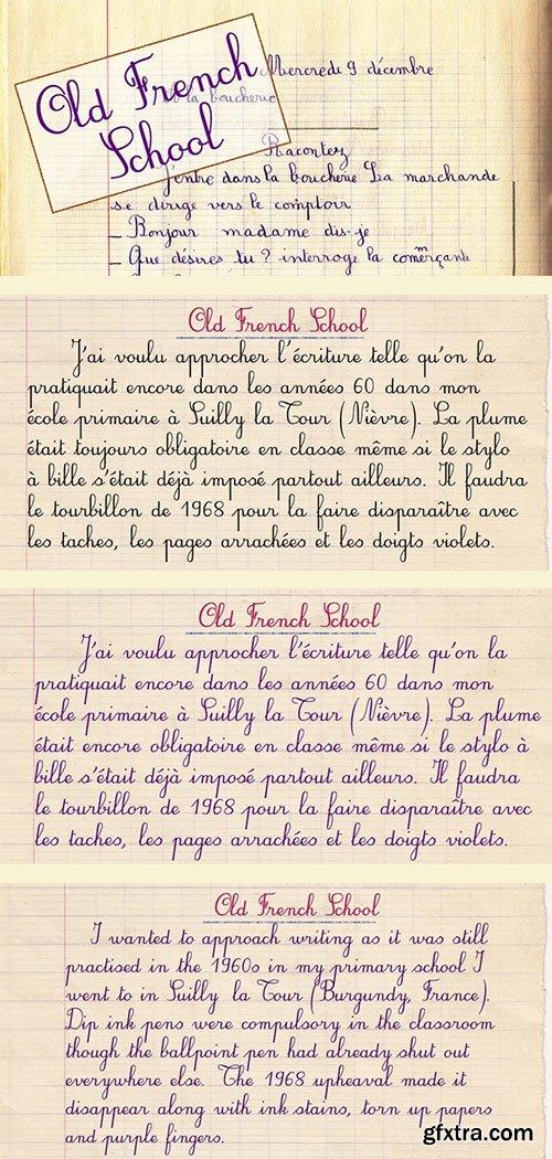 Old French School - Handwriten Old School Font Family 4xTTF