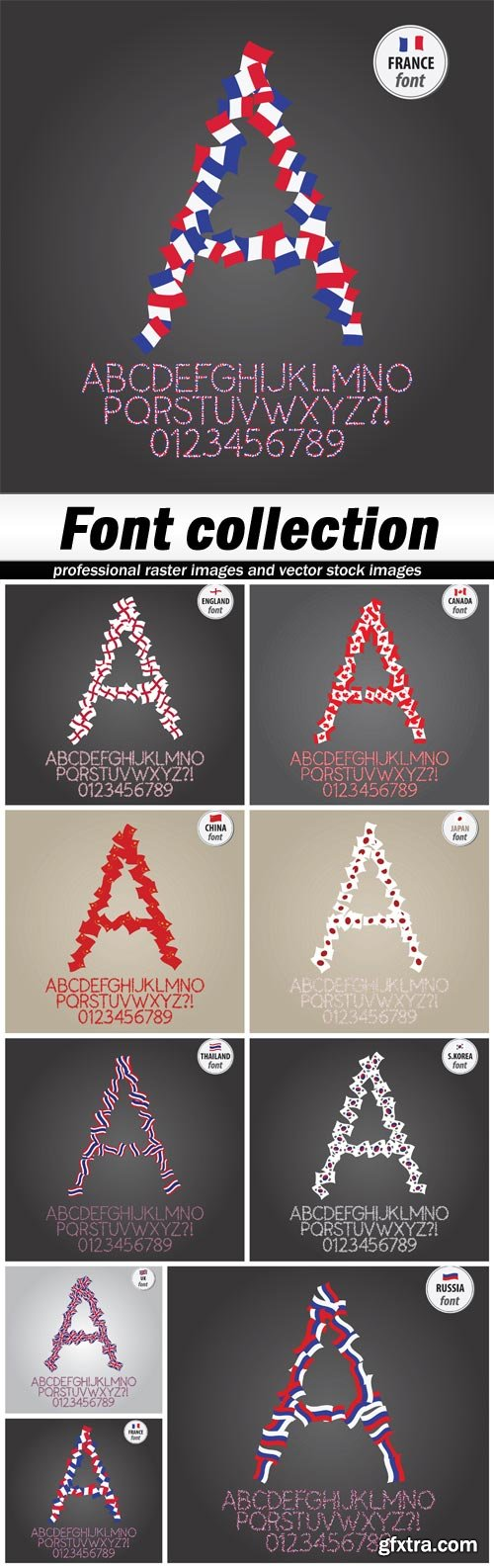 Font collection - 9 EPS