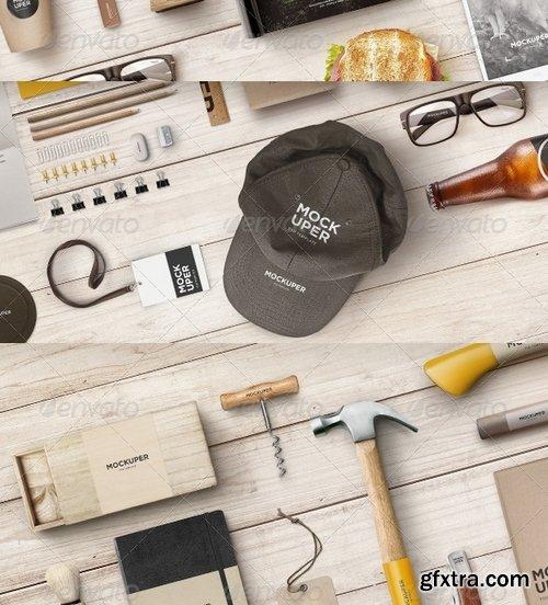 GraphicRiver - Brutal Wood Branding Mock-Up (PSD) 7374379