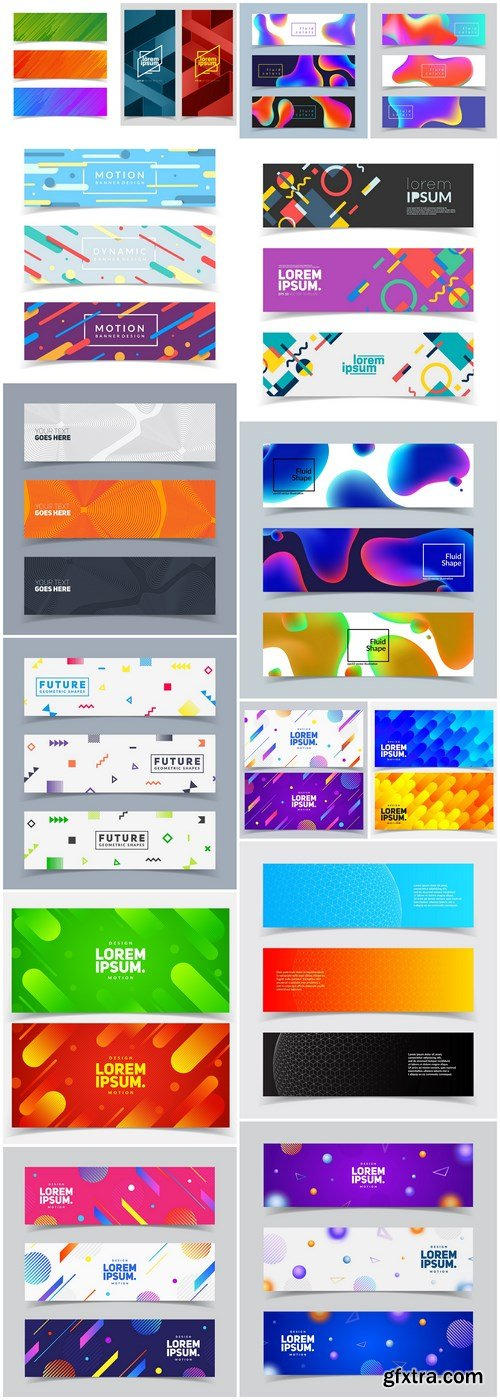 Abstract Banners Collection #128 - 15 Vectors