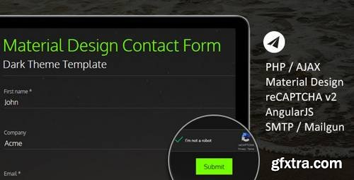 Ultimate Material PHP & AJAX Contact Form 7894