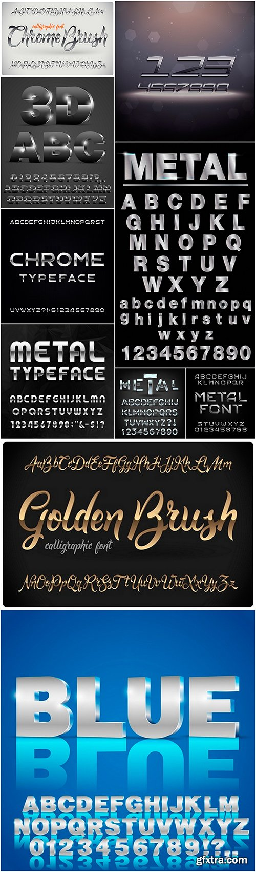 Metal type alphabet - 10EPS