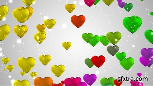 Hearts Animation Background Colors