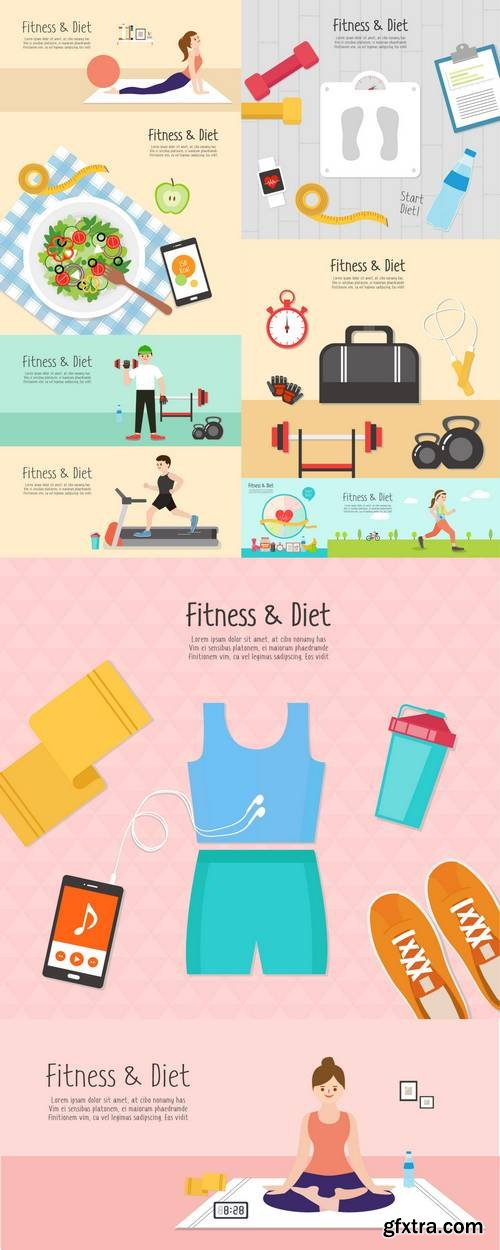 Fitness and Diet Illustration