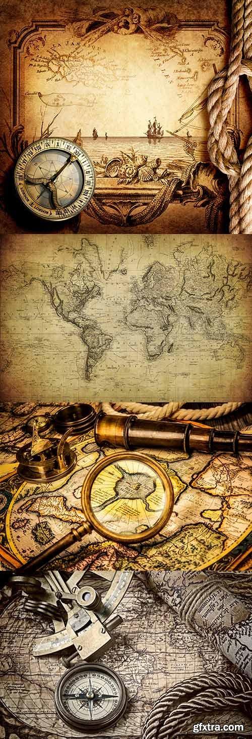 Old Maps and Navigation raster graphics 3