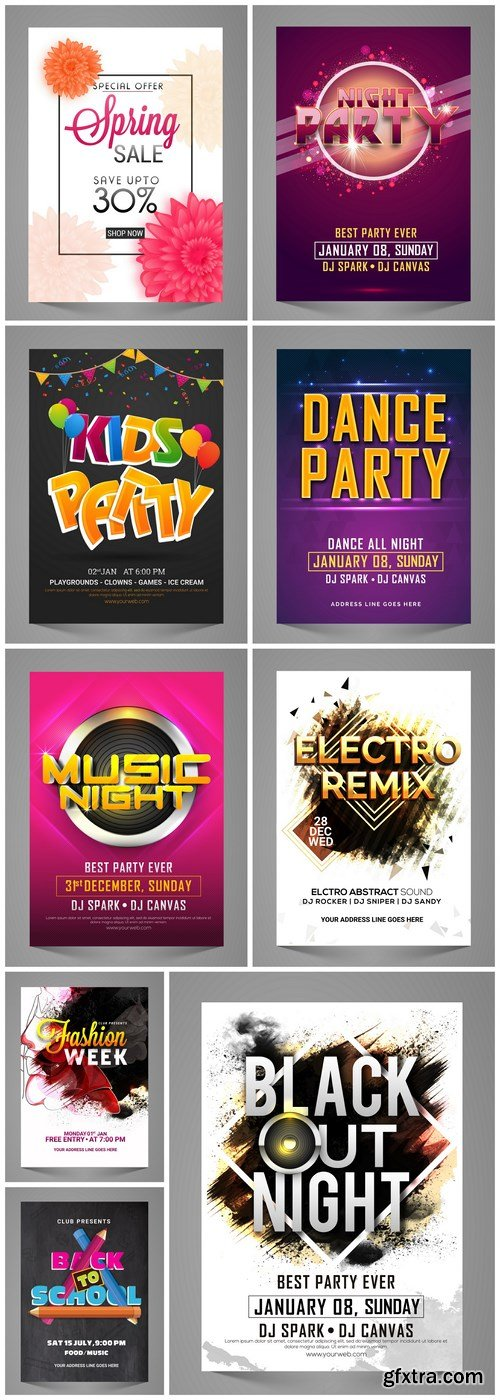 Different Party Flyer - 9 Vector