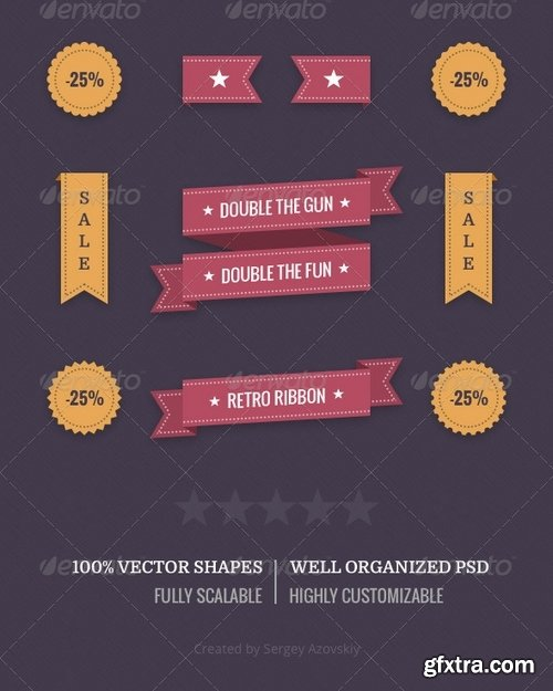 GraphicRiver - Retro Badges & Ribbons 8530663