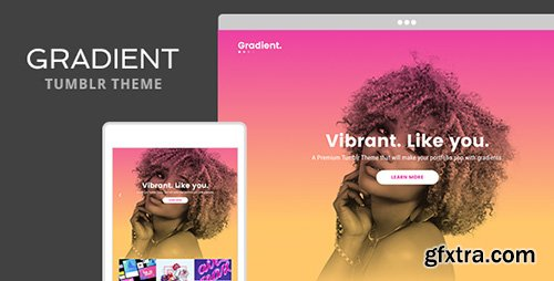ThemeForest - Gradient v1.0 - Tumblr Theme - 19334255