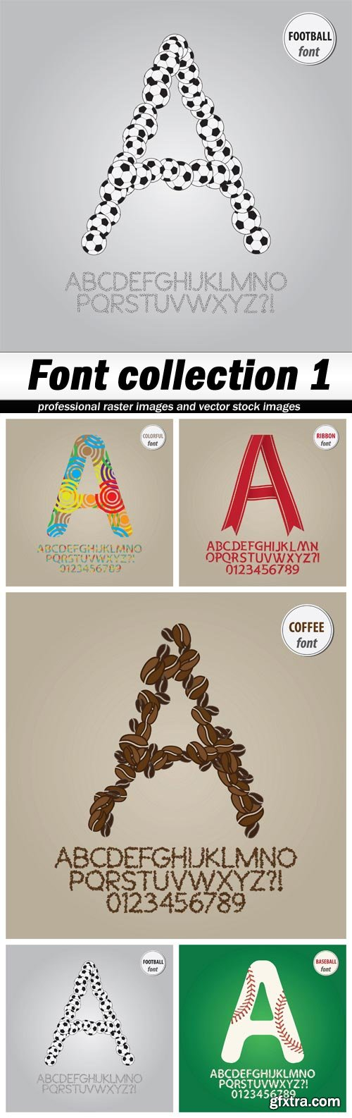Font collection 1 - 5 EPS