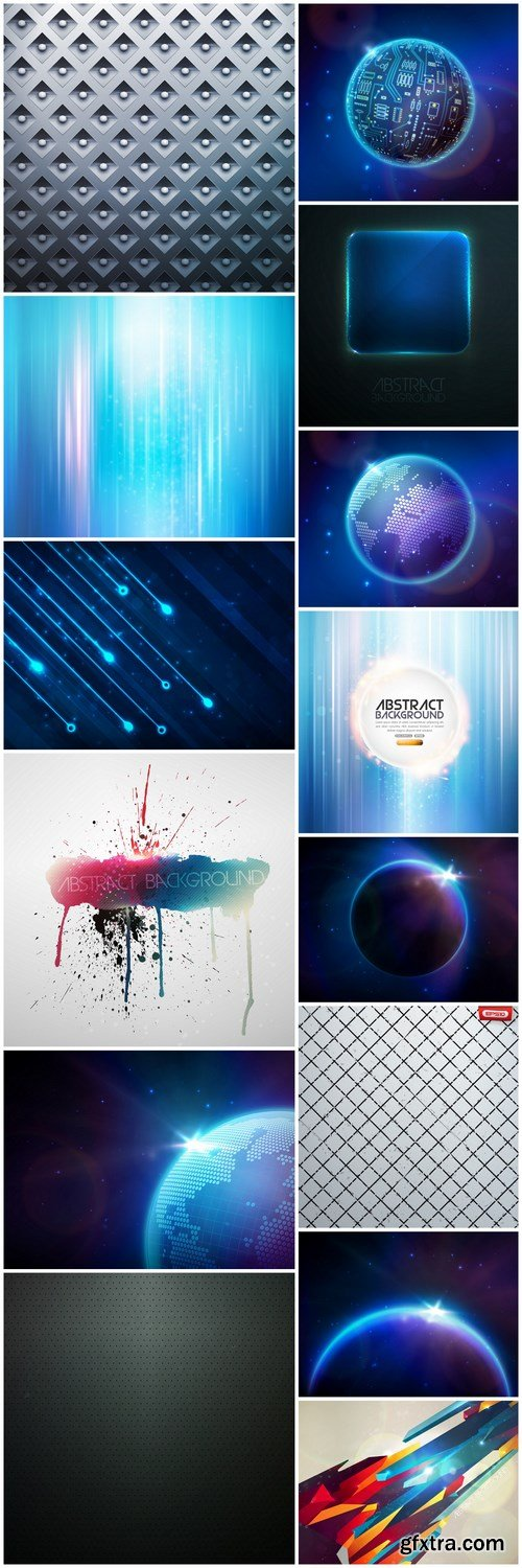 Abstract Background Collection #205 - 14 Vector