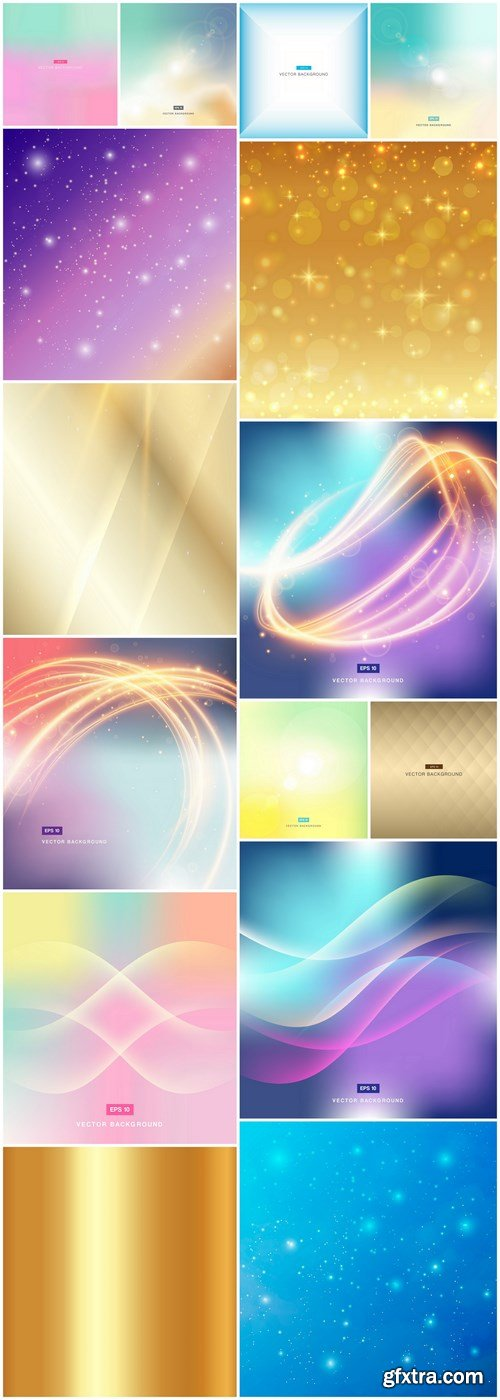 Abstract Background Collection #206 - 15 Vector