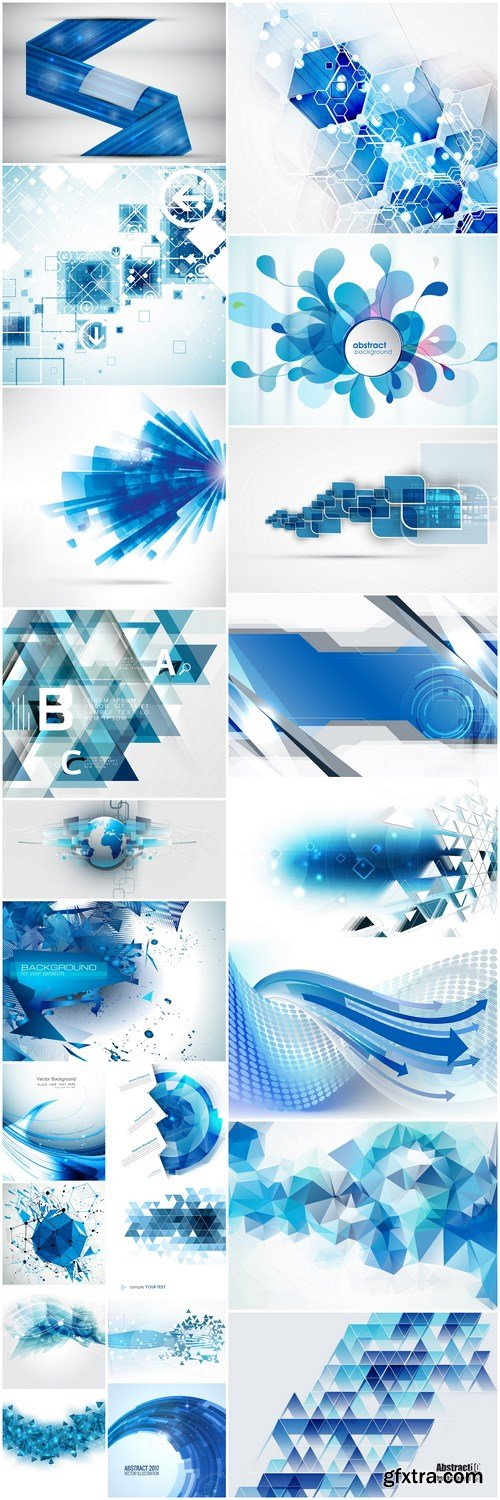 Abstract Background Collection #207 - 22 Vector