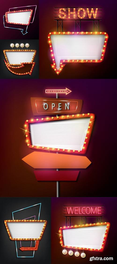 Signboard Retro Style with Light Frame