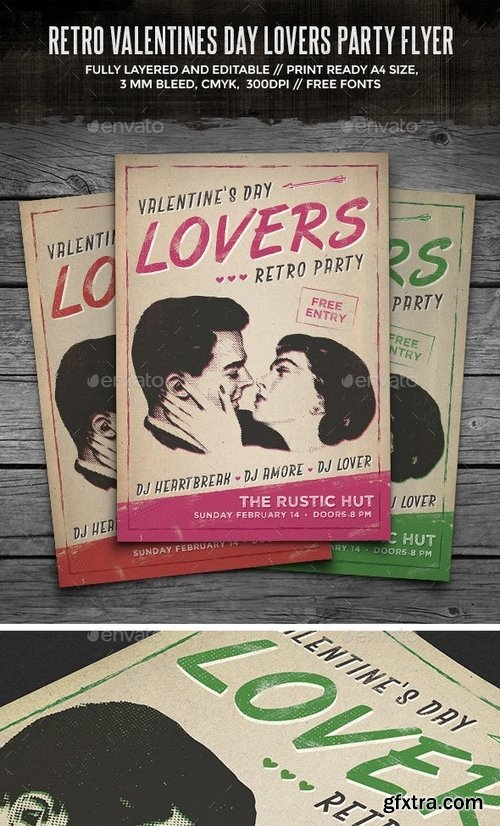 GraphicRiver - Retro Lovers Party Flyer 14545600
