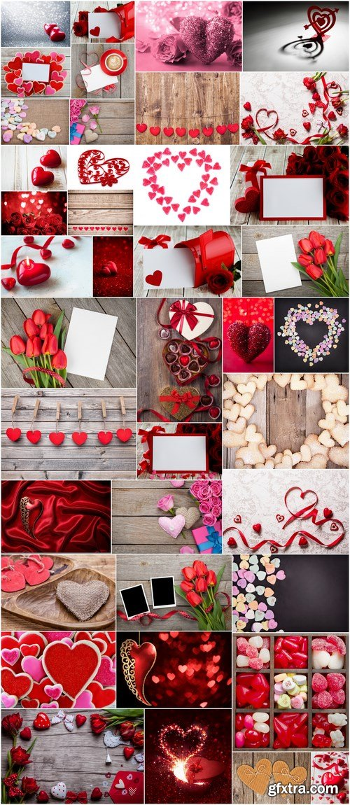Love, Romance, Heart, Gifts - Valentines Day part 4 - Set of 40xUHQ JPEG Professional Stock Images