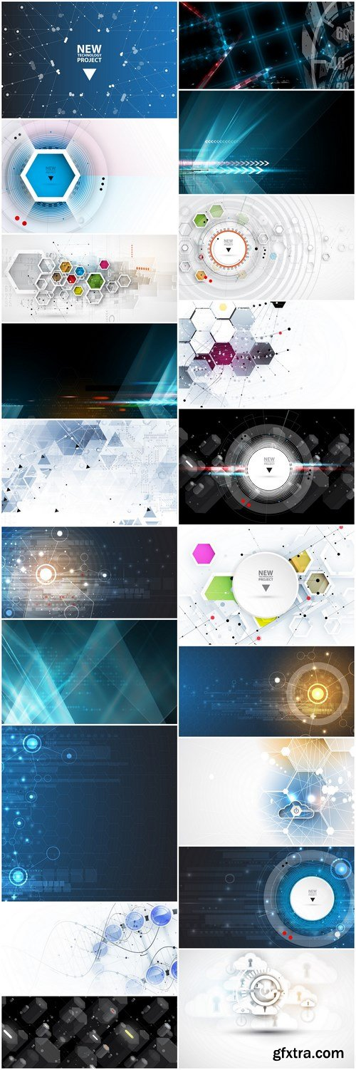Abstract Background Collection #208 - 20 Vector