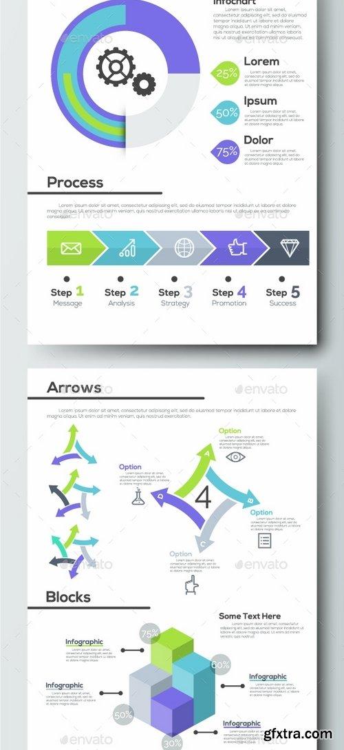 GraphicRiver - Pro Flat Infographic Brochure Set 1 1629865