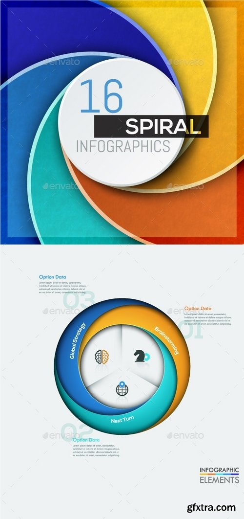 GraphicRiver - 16 Spiral Infographic Templates 18651927