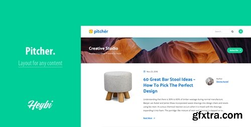 ThemeForest - Pitcher v1.0 -Theme for Any Content - 19064273