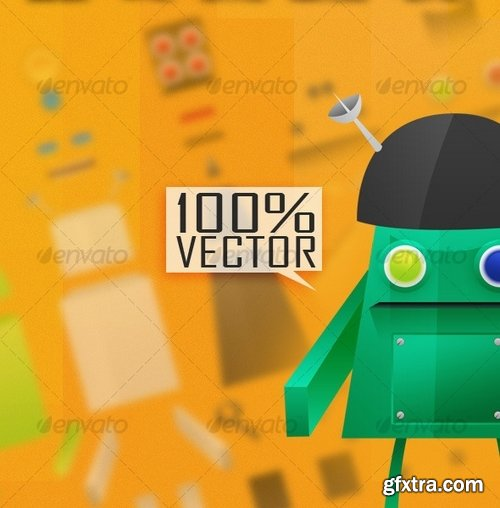 GraphicRiver - Robotic Creation Kit - Be a Mechanic 128833