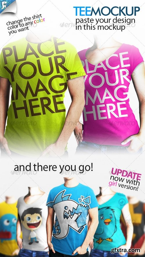 GraphicRiver - Tee Mockup - Your clothing 118676